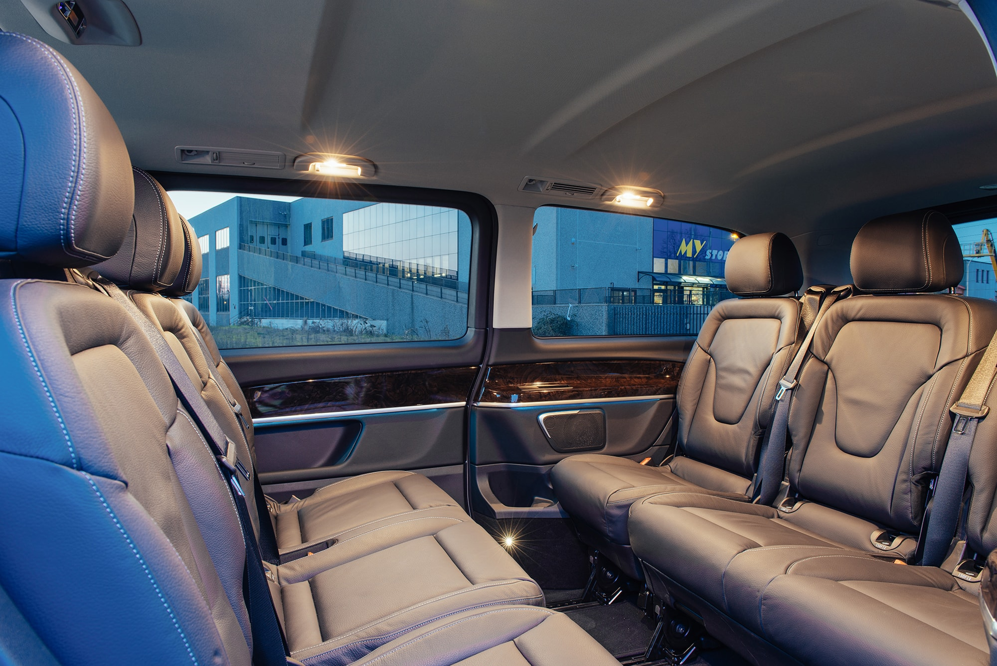 Limousine service with driver